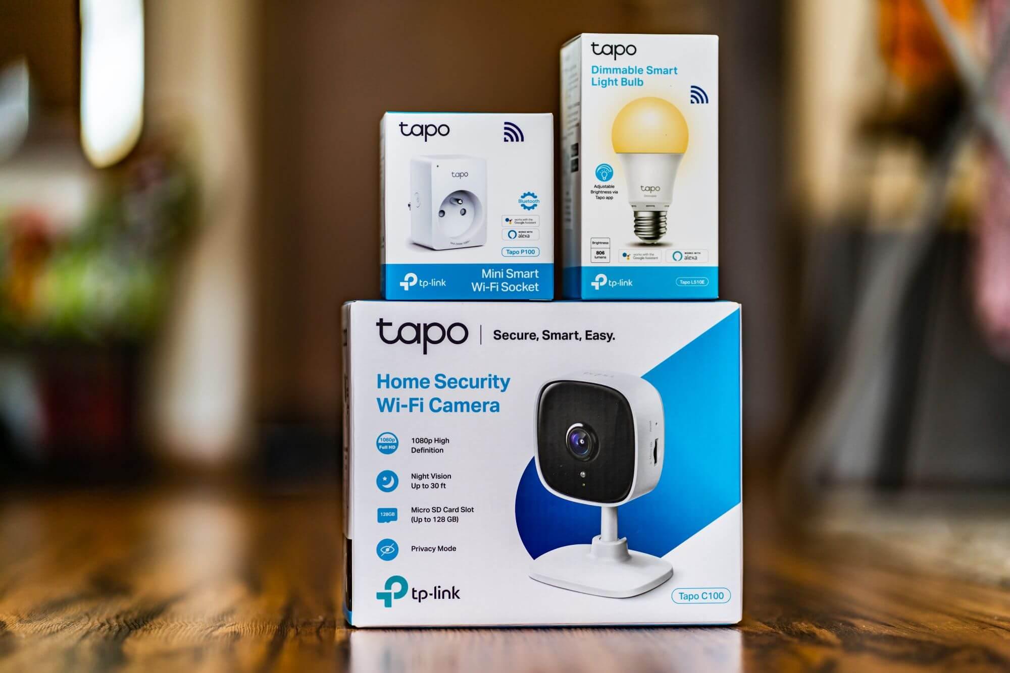 Tapo kamera, żarówka plug smart Home