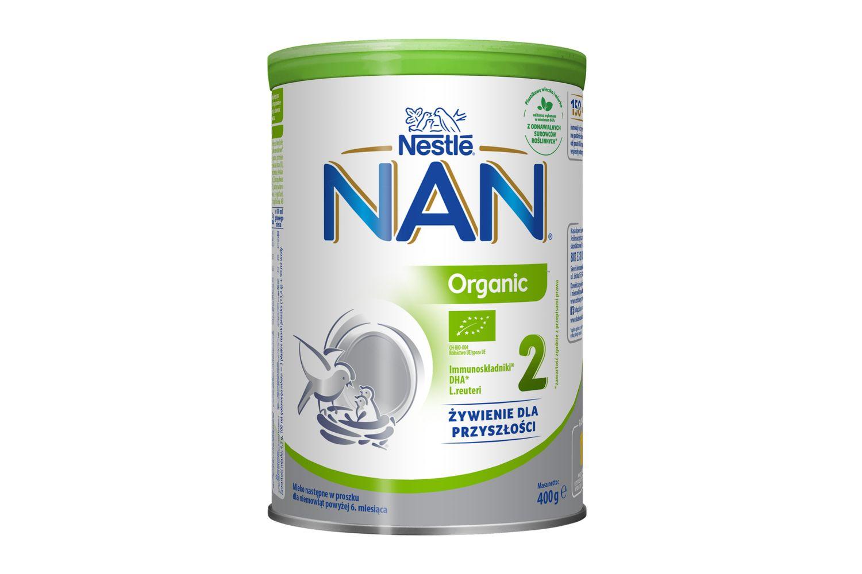 Inspirowane doskonałością natury, ekologiczne mleko następne NAN Organic 2 to dobrze znana jakość NAN 2 w wersji przyjaznej dla planety.